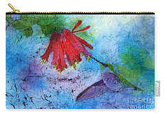 Hummingbird Batik Watercolor Carry-all Pouch