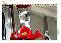 Carry-all Pouch featuring the photograph Hummingbird Feeding by Sadie Reneau