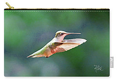 Carry-all Pouch featuring the photograph Hummingbird Flying by Meta Gatschenberger
