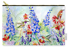 Hummingbird Garden In Spring Carry-all Pouch by Audrey Jeanne Roberts