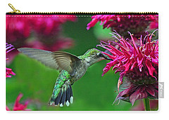 Carry-all Pouch featuring the photograph Hummingbird Gathering Nectar by Rodney Campbell