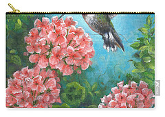 Carry-all Pouch featuring the painting Hummingbird Heaven by Kim Lockman
