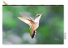 Carry-all Pouch featuring the photograph Hummingbird Hovering by Meta Gatschenberger