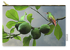 Hummingbird In Lime Tree Carry-all Pouch