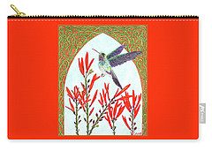 Carry-all Pouch featuring the painting Hummingbird In Opening by Lise Winne