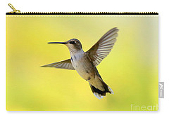 Hummingbird In Yellow Carry-all Pouch