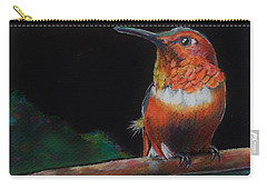 Hummingbird Carry-all Pouch by Jean Cormier