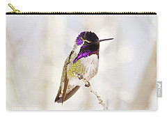 Carry-all Pouch featuring the photograph Hummingbird Larger Background by Rebecca Margraf