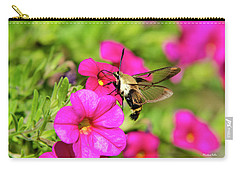 Carry-all Pouch featuring the photograph Hummingbird Moth by Christina Rollo