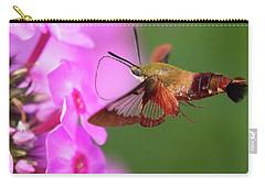 Hummingbird Moth Feeding 2 Carry-all Pouch
