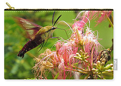 Carry-all Pouch featuring the photograph Hummingbird Moth by Phyllis Beiser