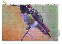 Hummingbird On A Stick Carry-all Pouch