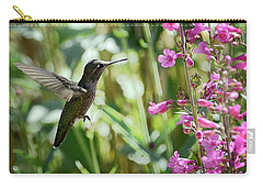 Hummingbird On Perry's Penstemon Carry-all Pouch
