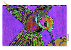 Hummingbird On Purple Carry-all Pouch