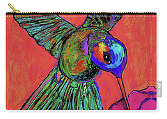 Hummingbird On Red Carry-all Pouch