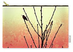 Hummingbird Peach Tree Carry-all Pouch