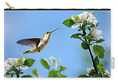 Hummingbird Springtime Carry-all Pouch by Christina Rollo
