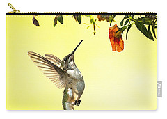 Hummingbird Under The Floral Canopy Carry-all Pouch