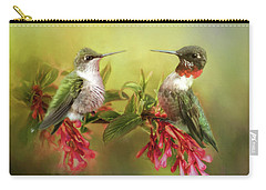 Hummingbirds And Blossoms Carry-all Pouch