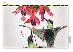 Hummingbirds And Fuchsia Carry-all Pouch