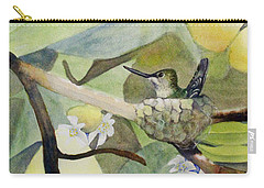 Hummingbirds And Lemons Carry-all Pouch