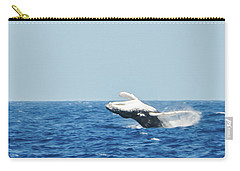 Carry-all Pouch featuring the photograph Humpback Smackdown Off Bermuda by Jeff at JSJ Photography