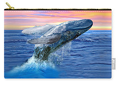 Humpback Whale Breaching At Sunset Carry-all Pouch