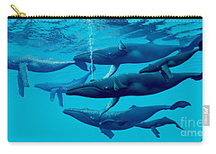 Humpback Whale Group Carry-all Pouch by Corey Ford
