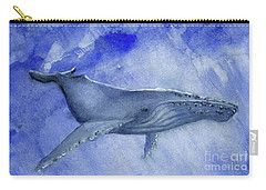 Humpback Yearling Under Our Boat Carry-all Pouch by Randy Sprout