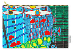 Hundertwasser Blue Moon Atlantis Escape To Outer Space In 3d By J.j.b Carry-all Pouch