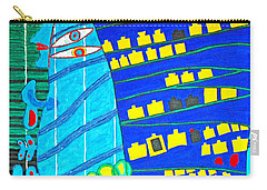 Hundertwasser Blue Moon Atlantis Escape To Outer Space Carry-all Pouch