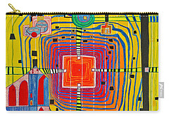 Hundertwassers Close Up Of Infinity Tagores Sun Carry-all Pouch