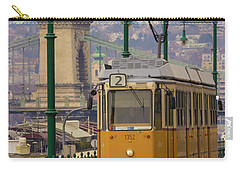 Hungarian Tram Carry-all Pouch by David Warrington