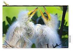 Hungry Egret Chicks Carry-all Pouch