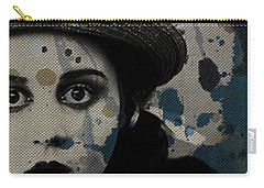 Carry-all Pouch featuring the mixed media Hungry Eyes by Paul Lovering