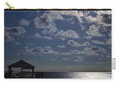 Carry-all Pouch featuring the photograph Hunter's Moon by Laura Fasulo