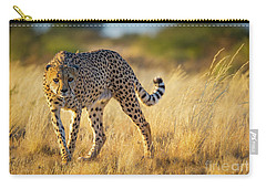 Hunting Cheetah Carry-all Pouch by Inge Johnsson