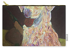 Carry-all Pouch featuring the painting Hunting Dog by Donald J Ryker III