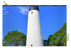 Carry-all Pouch featuring the photograph Hunting Island Lighthouse Beaufort Sc by Lisa Wooten