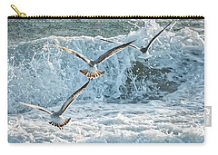 Hunting The Waves Carry-all Pouch by Don Durfee