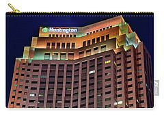 Carry-all Pouch featuring the photograph Huntington Bank Cleveland by Frozen in Time Fine Art Photography