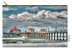 Carry-all Pouch featuring the photograph Huntington Beach Winter 2017 by Jim Carrell