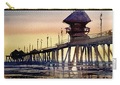 Huntington Pier Carry-all Pouch by Sandra Strohschein