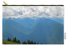Carry-all Pouch featuring the photograph Hurricane Ridge Panoramic by Tikvah's Hope
