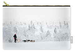 Carry-all Pouch featuring the photograph Husky Safari by Delphimages Photo Creations