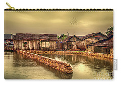 Carry-all Pouch featuring the photograph Huts 2 by Charuhas Images