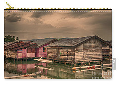 Carry-all Pouch featuring the photograph Huts In South Sulawesi by Charuhas Images