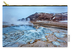 Hverir Steam Vents In Iceland Carry-all Pouch by Joe Belanger