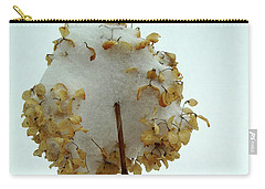 Hydrangea Blossom In Snow Carry-all Pouch