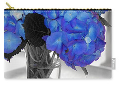 Carry-all Pouch featuring the photograph Hydrangea In Glass by Donna Bentley